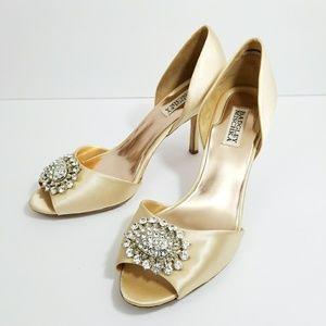 Badgley Mischka 10 heels jeweled EUC